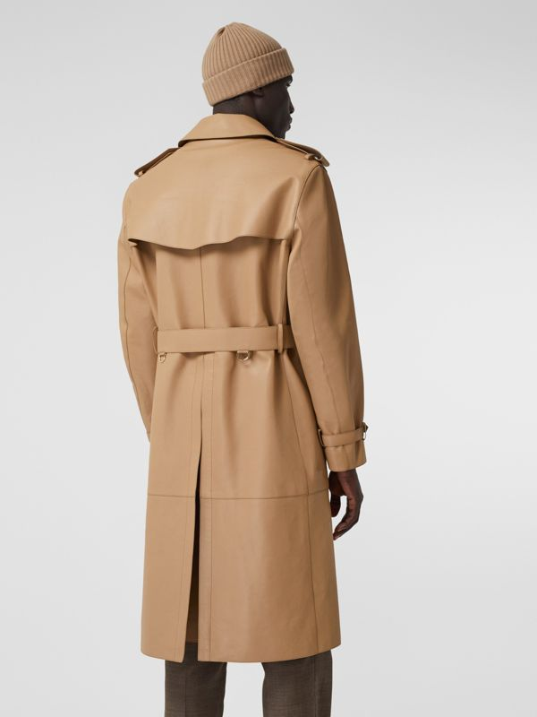 Plonge Leather Trench Coat in Camel - Men | Burberry - cell image 2