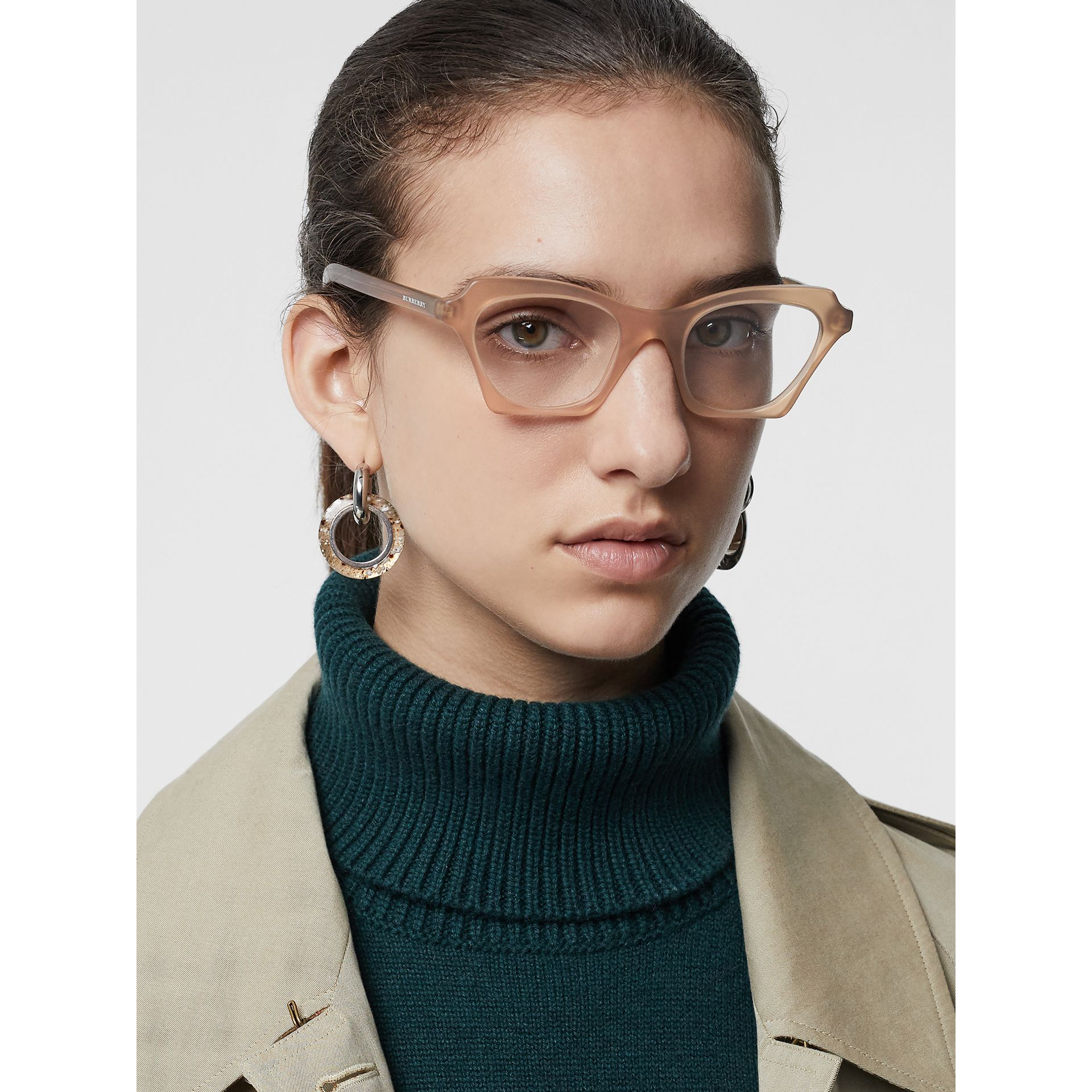 Butterfly Optical Frames in Brown - Women | Burberry United States - gallery image 2