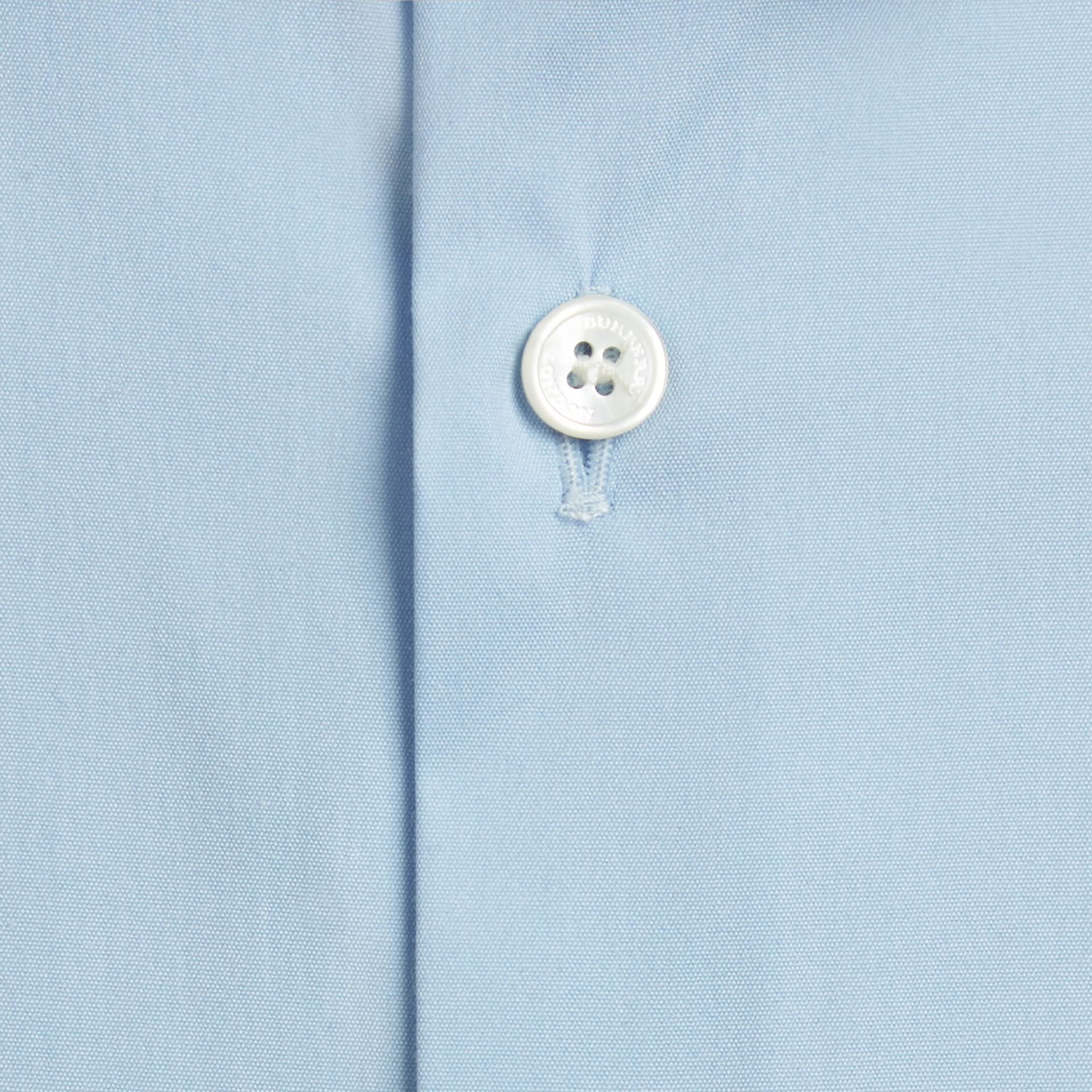 Modern Fit Stretch Cotton Shirt in City Blue - gallery image 2