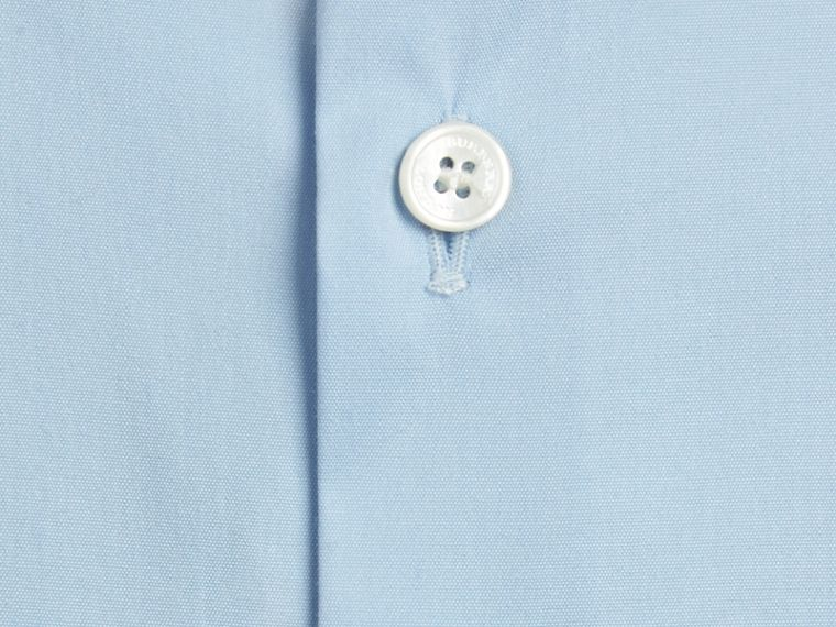 Modern Fit Stretch Cotton Shirt in City Blue - cell image 1