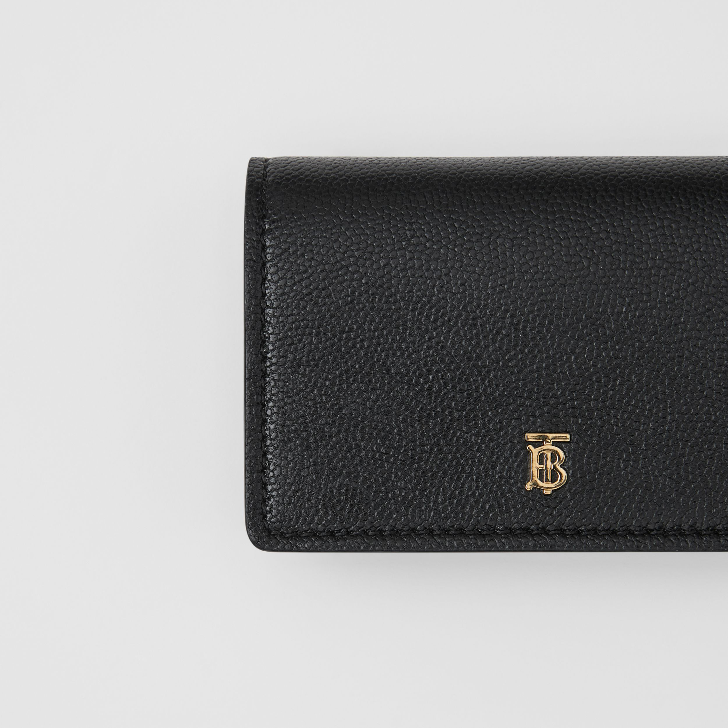 Grainy Leather Card Case with Detachable Strap in Black - Women | Burberry - 2
