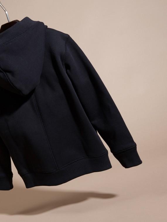 Navy scuro Felpa con cappuccio in cotone Navy Scuro - cell image 3