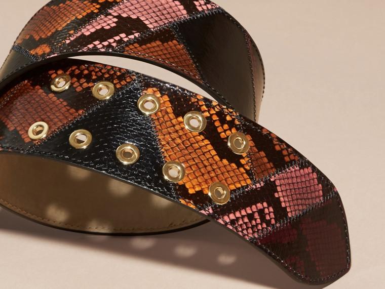 Snakeskin Intarsia Waist Belt Peony - cell image 2