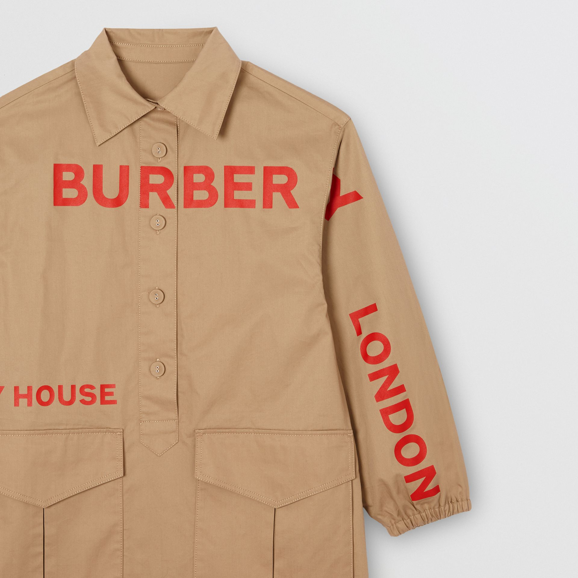 Robe chemise en coton Horseferry (Miel) | Burberry - photo de la galerie 5