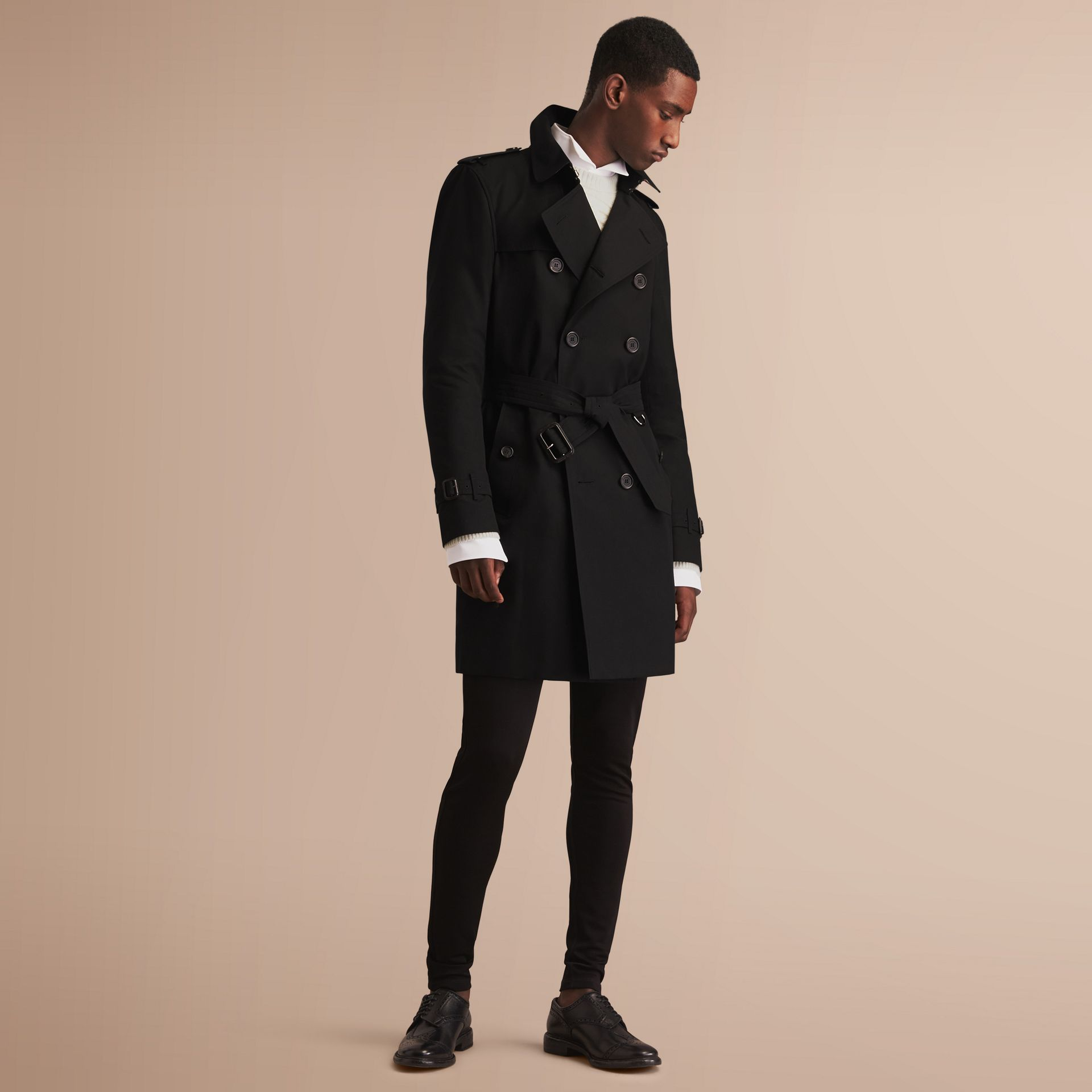 The Kensington – Long Heritage Trench Coat in Black - gallery image 8