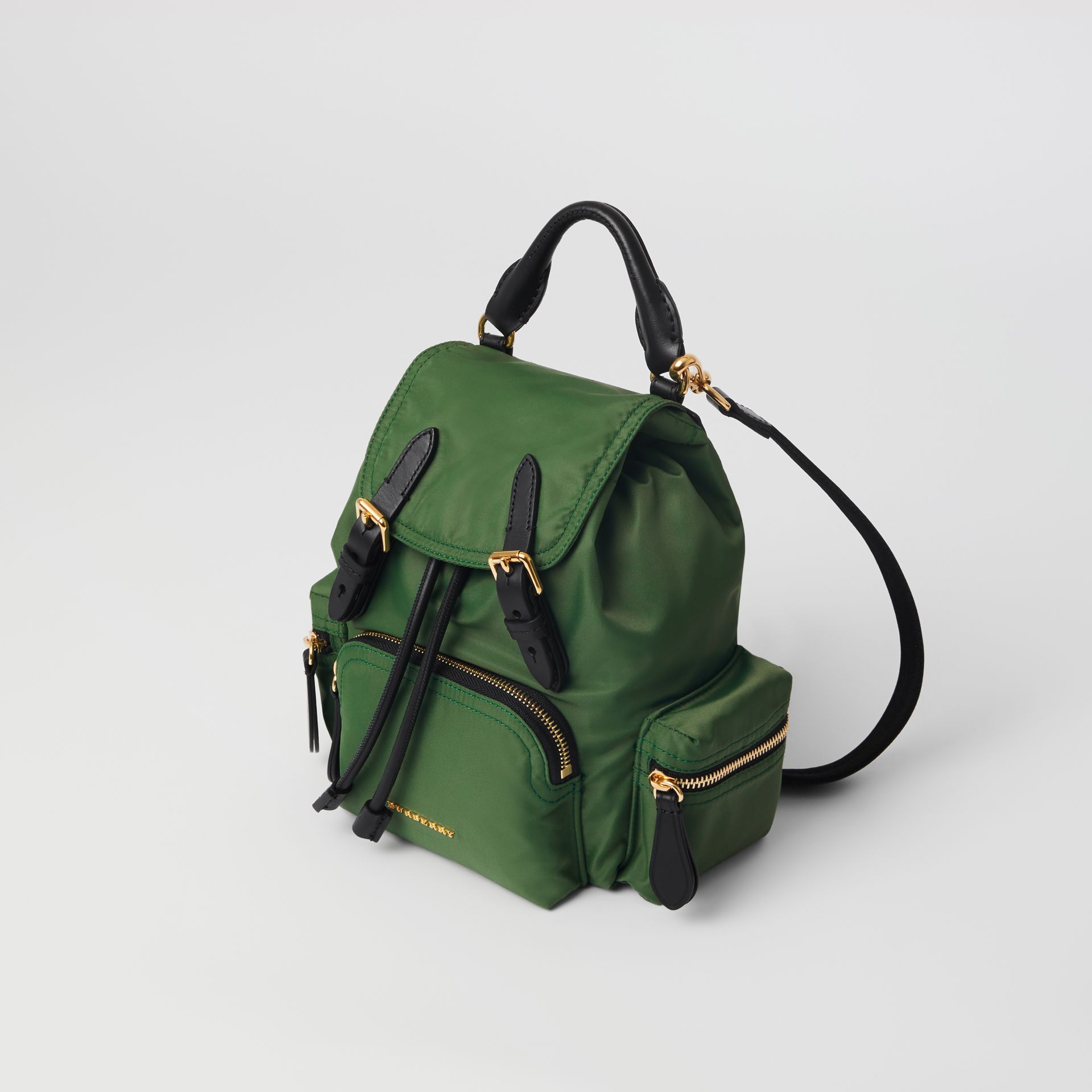 The Small Crossbody Rucksack in Nylon in Racing Green - Women | Burberry Canada - gallery image 0