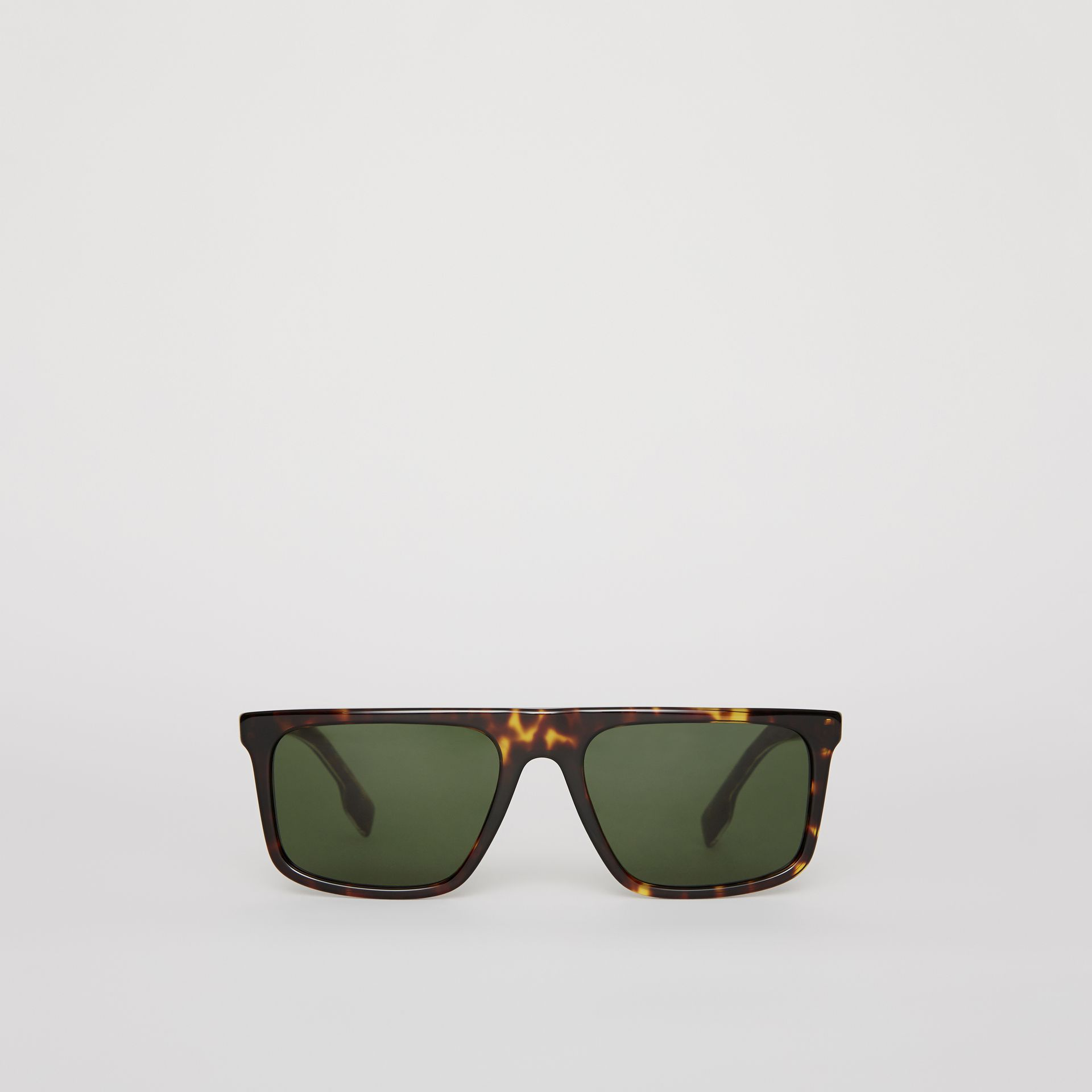 Straight-brow Sunglasses in Tortoise Shell - Men | Burberry United States - gallery image 0