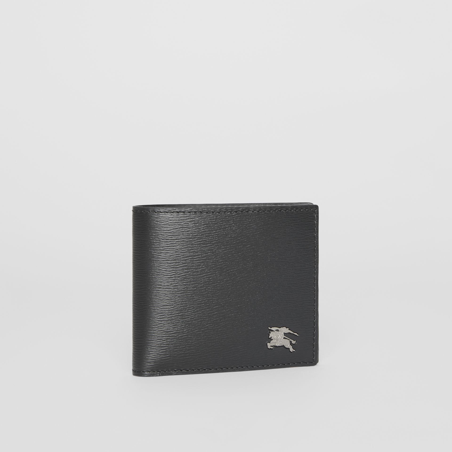 London Leather International Bifold Coin Wallet in Black - Men | Burberry Hong Kong - gallery image 4