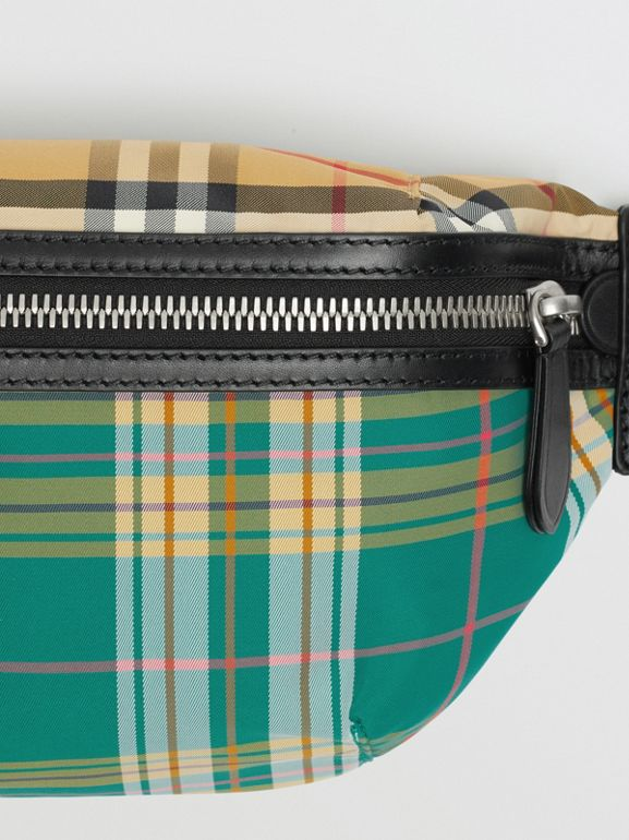 Medium Vintage Check and Tartan Bum Bag in Pine Green | Burberry Australia - cell image 1