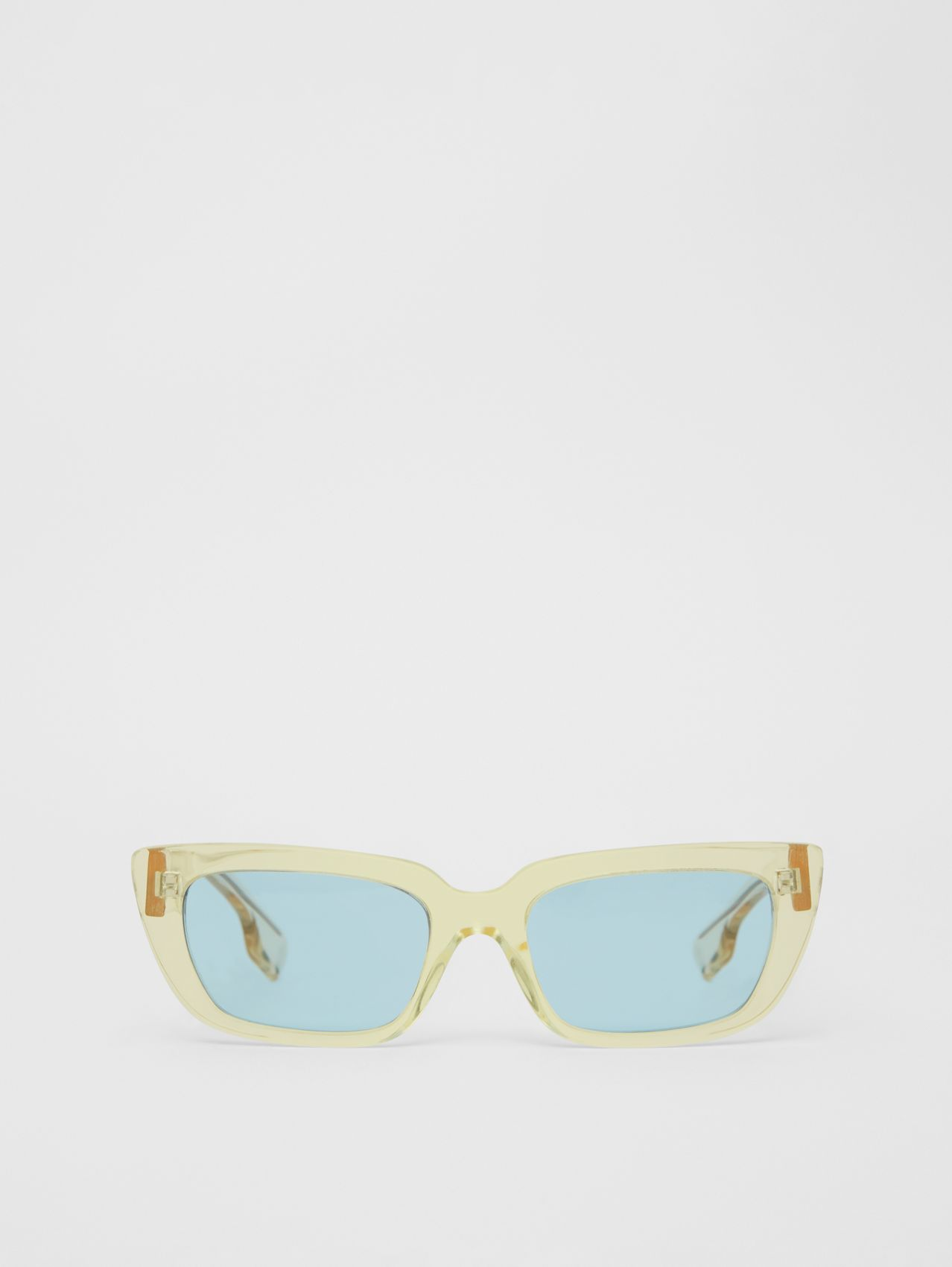 Bio-acetate Rectangular Frame Sunglasses in Pale Yellow