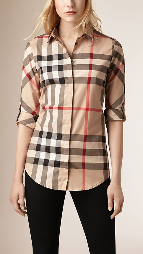 New classic check Stretch-Cotton Check Shirt - Image 1