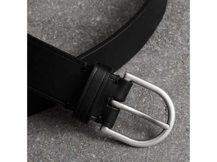 Bridle Leather Belt in Black - Men | Burberry - cell image 1