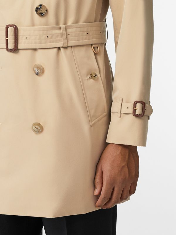 Short Chelsea Fit Trench Coat in Honey - Men | Burberry - cell image 3