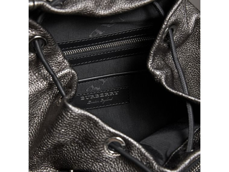 The Medium Rucksack in Metallic Deerskin in Dark Grey - Women | Burberry - cell image 4