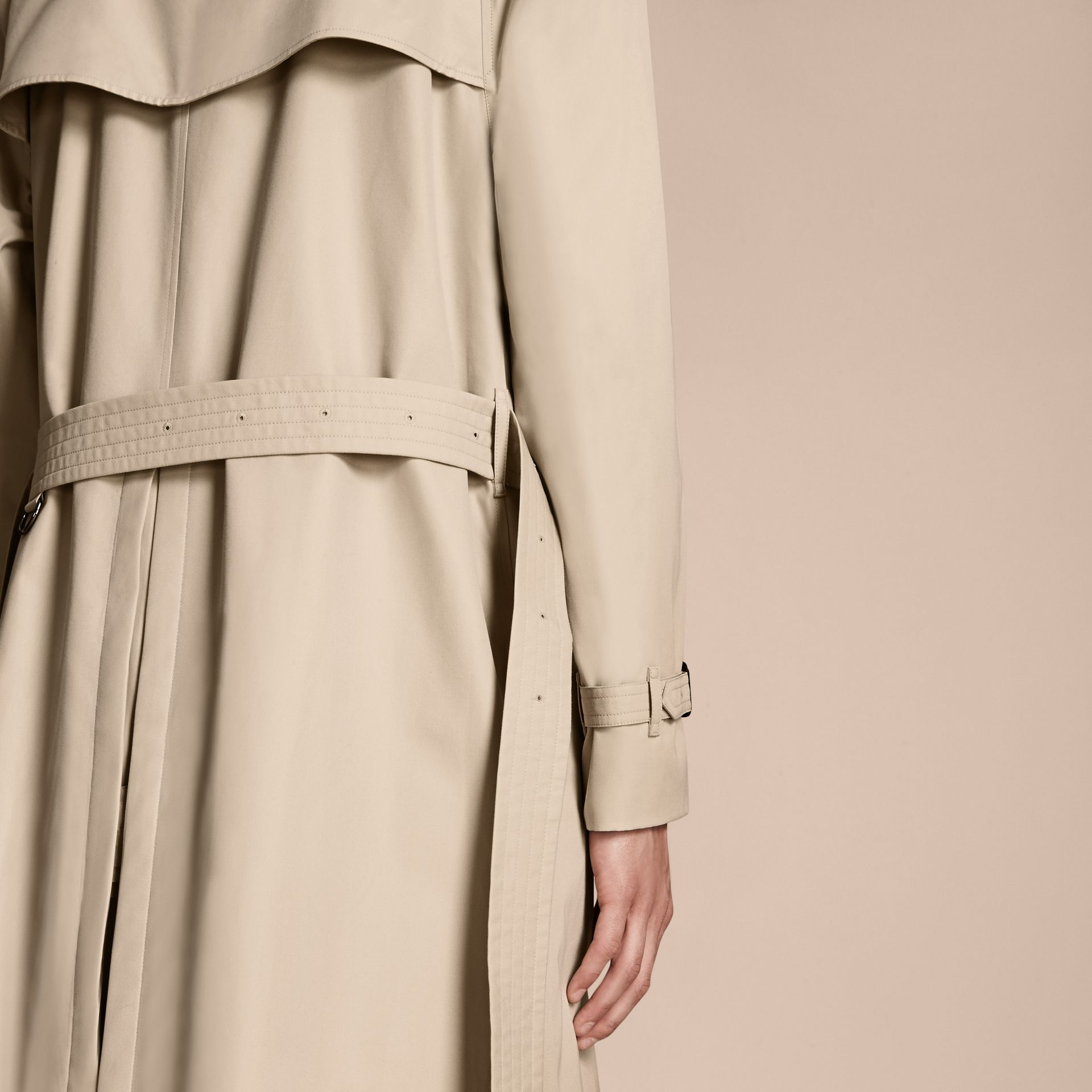 Stone The Westminster – Long Heritage Trench Coat Stone - gallery image 6