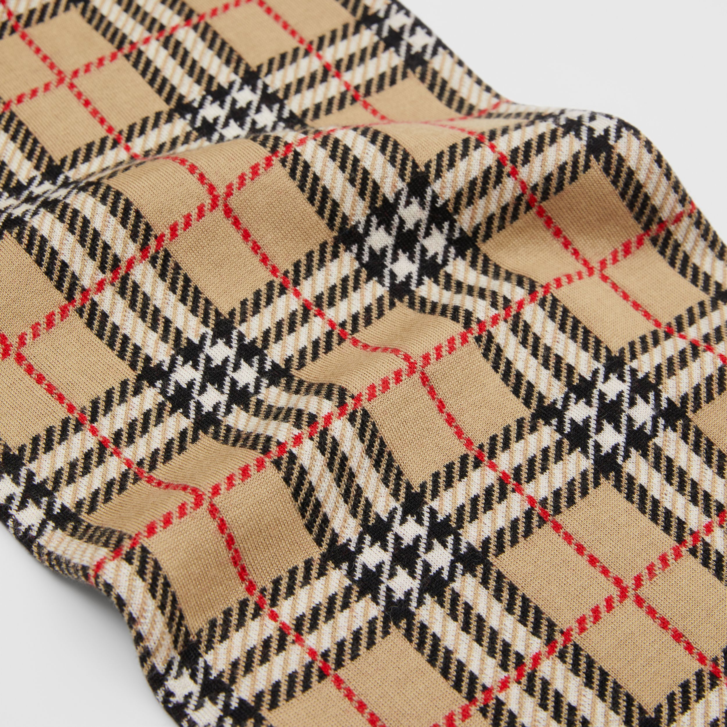 Check and Leopard Merino Wool Jacquard Scarf in Print - Children | Burberry - 2
