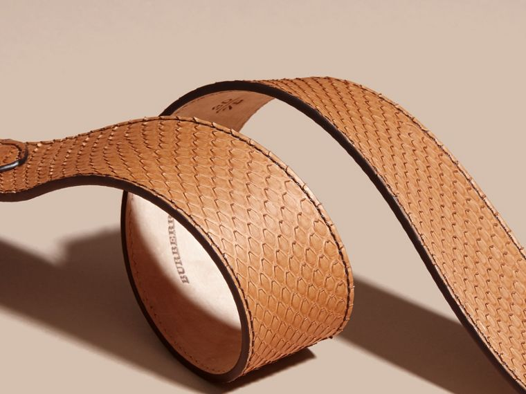 Python Belt in Camel - Women | Burberry - cell image 2
