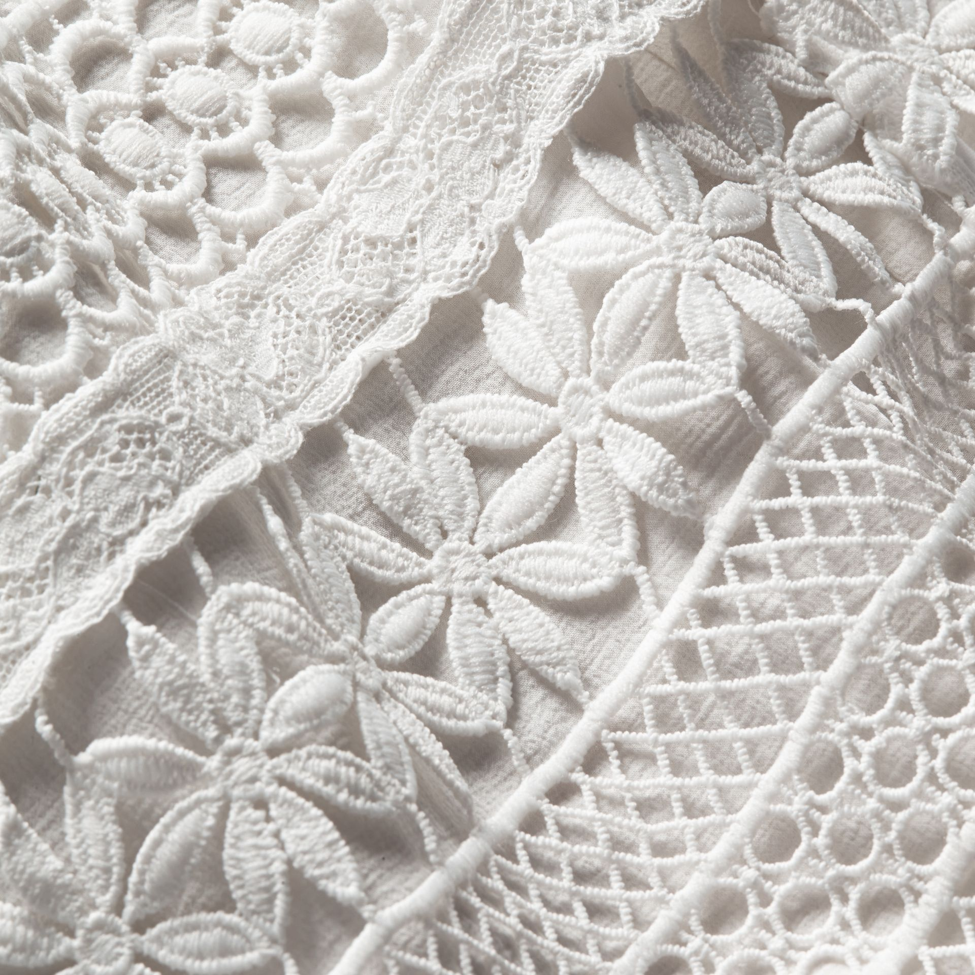 Macramé Lace Skirt in White - Women | Burberry - gallery image 2