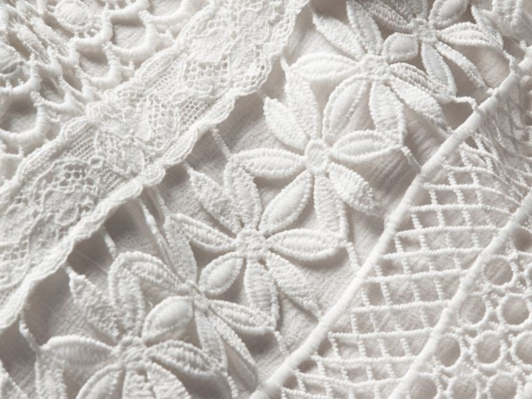 Macramé Lace Skirt in White - Women | Burberry - cell image 1