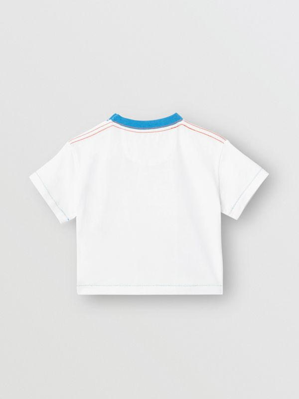 Comic Strip Print Cotton T-shirt in Natural White - Children | Burberry - cell image 3