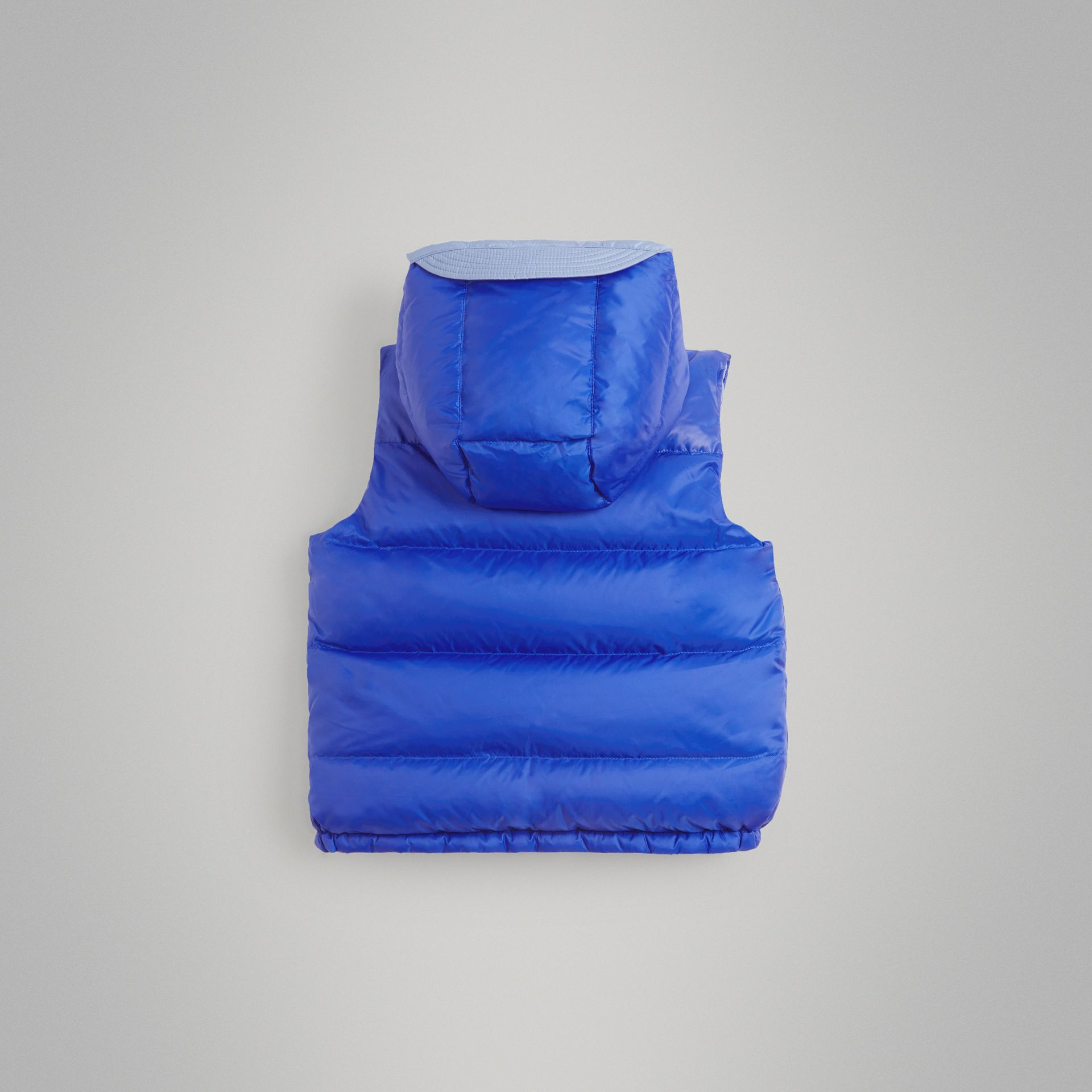 Reversible Showerproof Down-filled Hooded Gilet in Bright Spectrum Blue | Burberry - gallery image 3