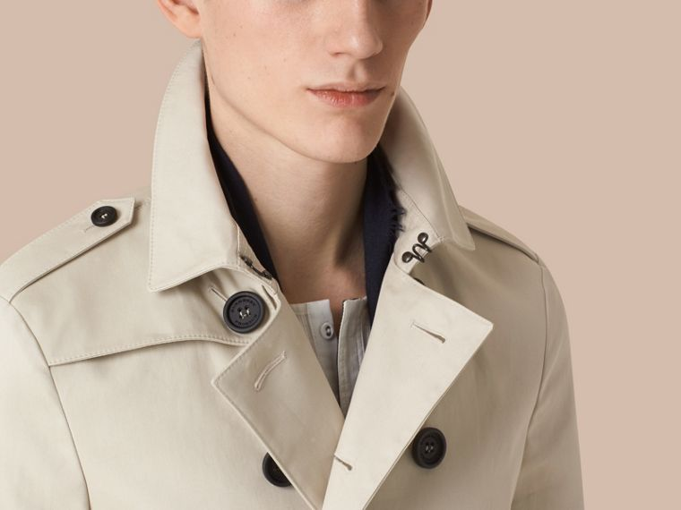 Stone Cotton Gabardine Trench Coat - cell image 4