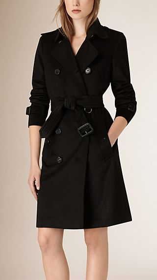 Kensington Fit Cashmere Trench Coat