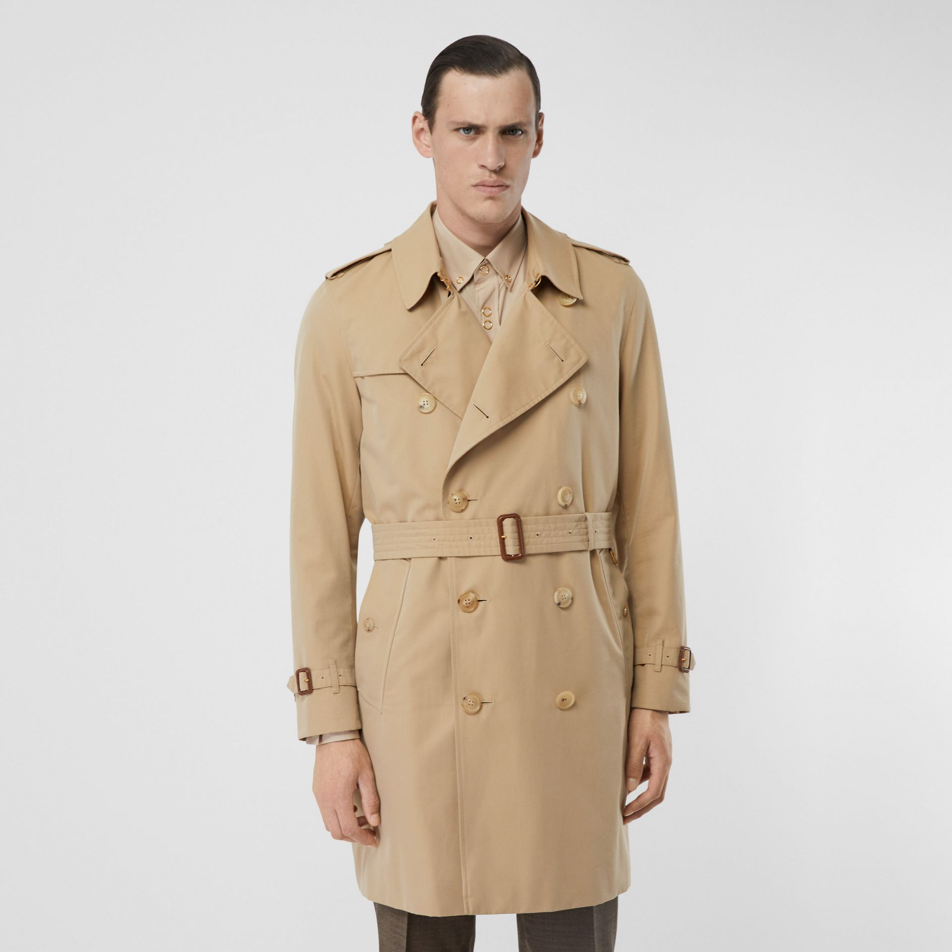 The Mid-length Kensington Heritage Trench Coat in Honey - Men | Burberry Singapore - gallery image 7