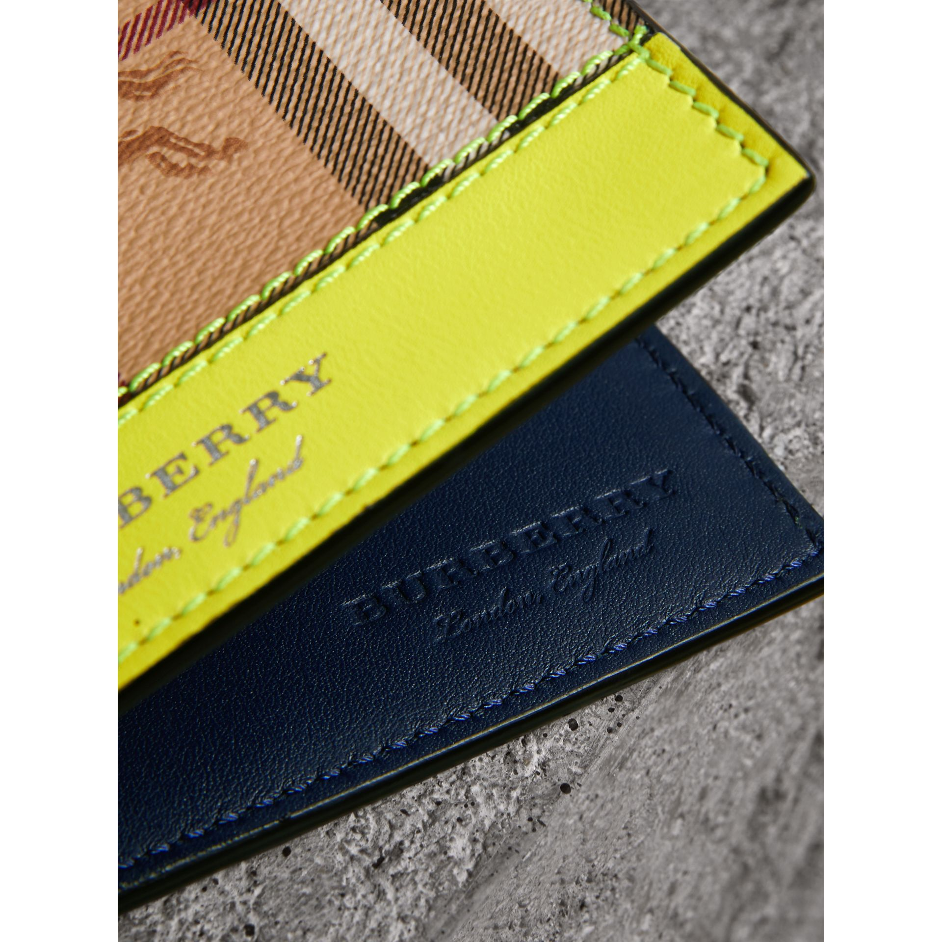 Haymarket Check International Bifold Wallet in Bright Yellow - Men | Burberry - gallery image 1