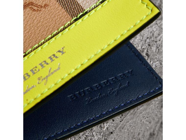 Haymarket Check International Bifold Wallet in Bright Yellow - Men | Burberry - cell image 1