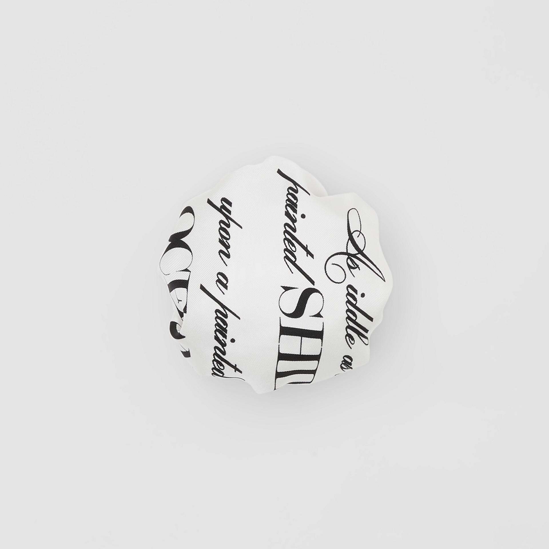 Mariner Print Silk Chignon Cover in White | Burberry - gallery image 0