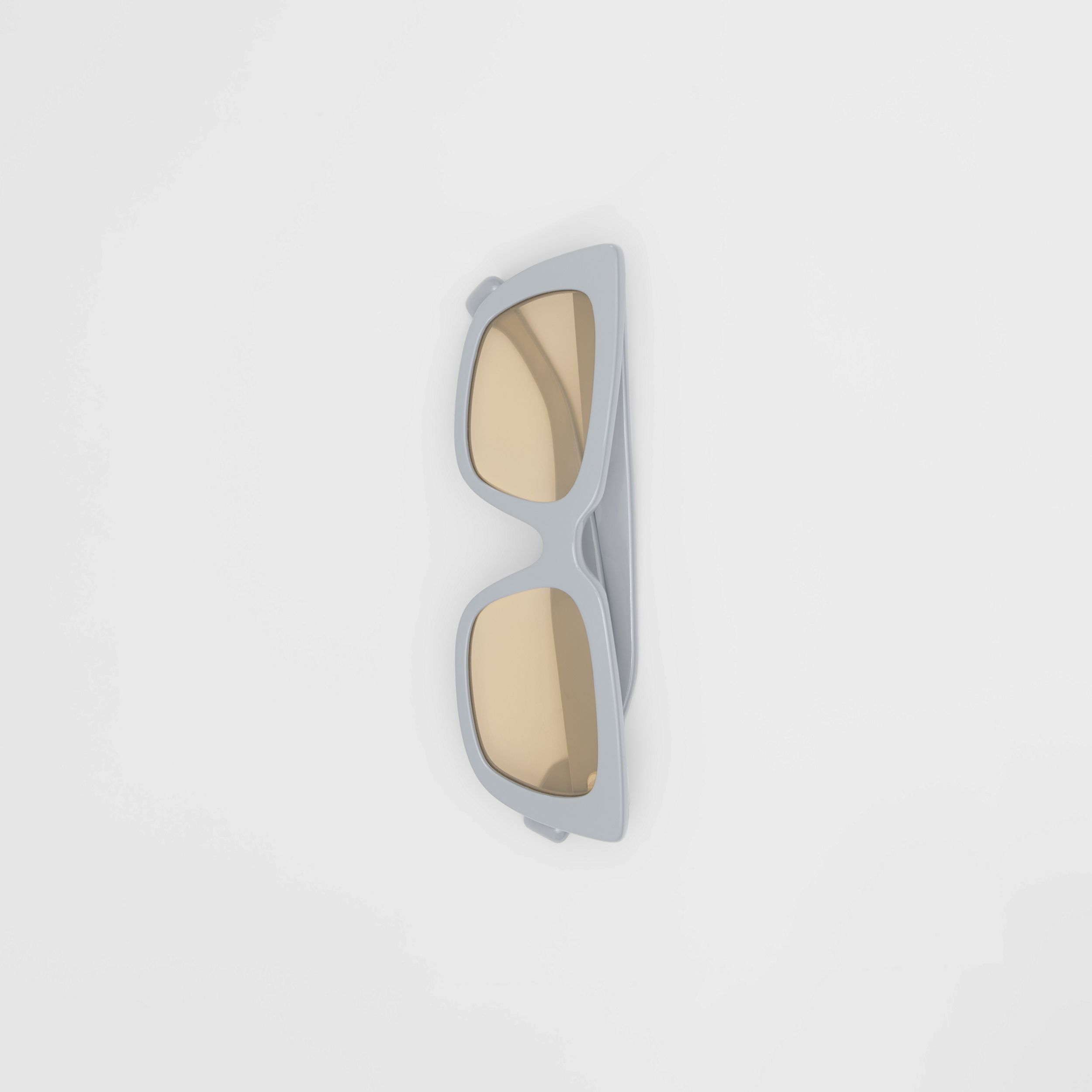 Bio-acetate Rectangular Frame Sunglasses in Grey - Women | Burberry Singapore - 4