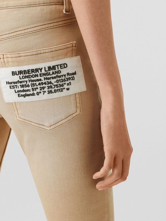 Skinny Fit Washed Japanese Denim Jeans in Honey - Women | Burberry United Kingdom - cell image 1