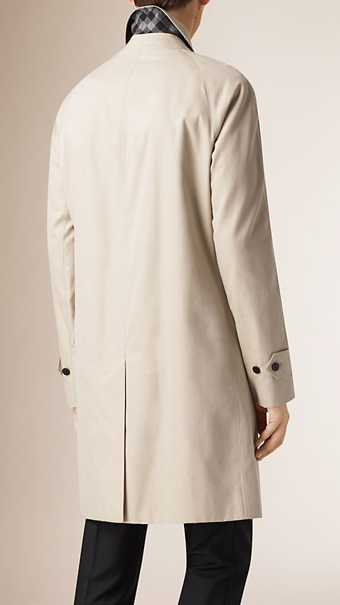 Trench Cotton Gabardine Car Coat - Image 3