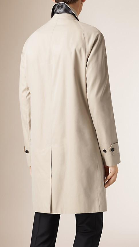 Trench Cotton Gabardine Car Coat - Image 3