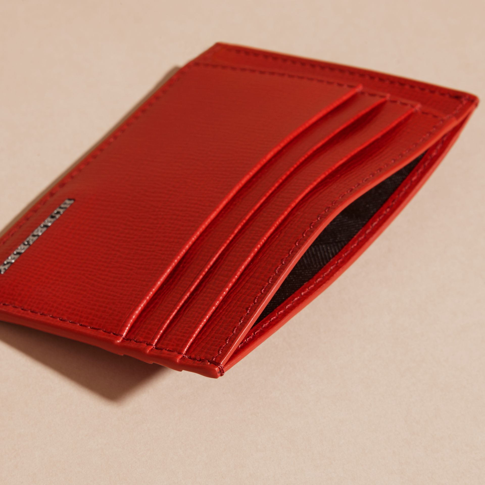 Dark military red London Leather Card Case Dark Military Red - gallery image 4