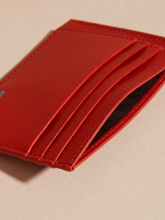 Dark military red London Leather Card Case - cell image 3