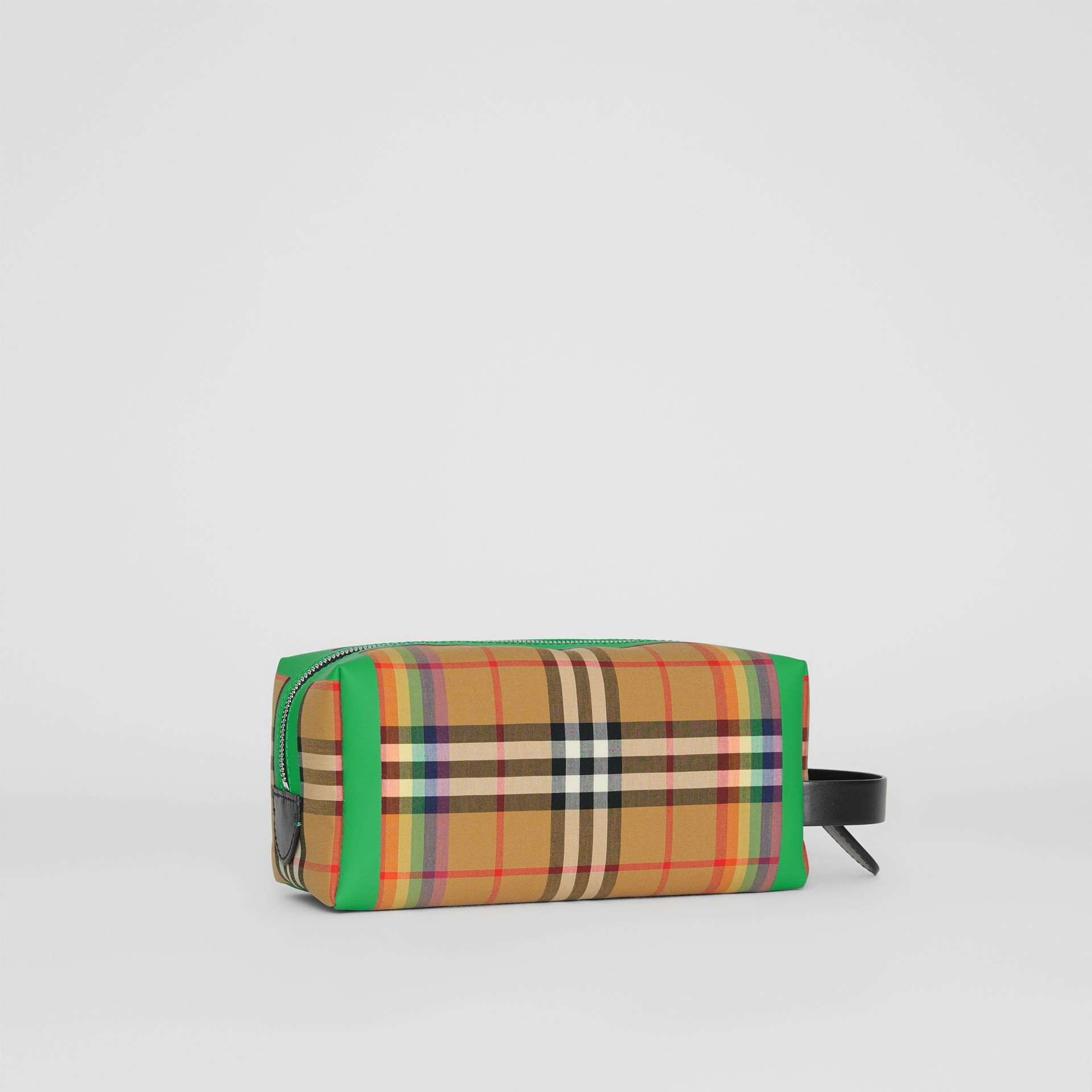 Rainbow Vintage Check Cotton Pouch in Antique Yellow | Burberry - gallery image 7