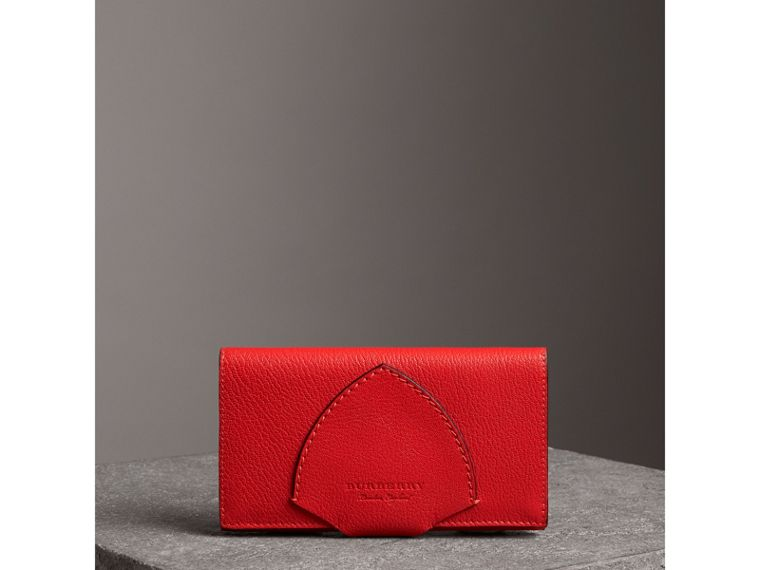 Equestrian Shield Two-tone Leather Continental Wallet in Bright Red - Women | Burberry - cell image 4