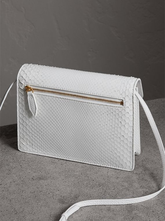 Small Python Crossbody Bag in Chalk White - Women | Burberry Australia - cell image 3