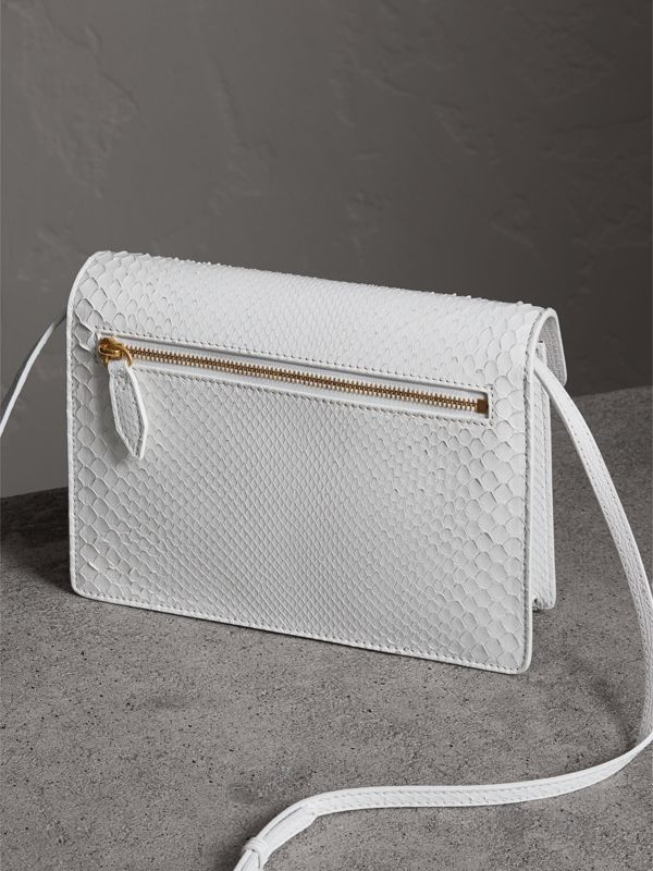 Small Python Crossbody Bag in Chalk White - Women | Burberry Canada - cell image 3