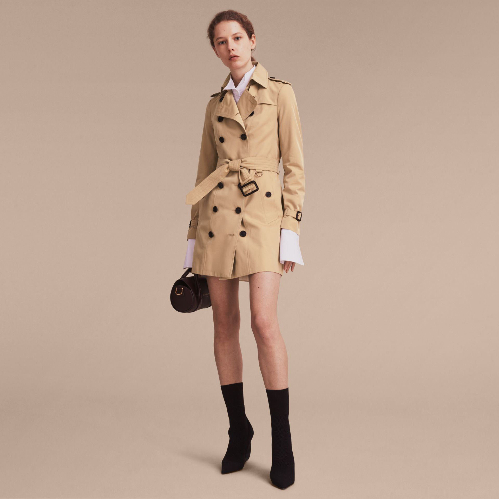 Honey The Sandringham – Mid-Length Heritage Trench Coat Honey - gallery image 8