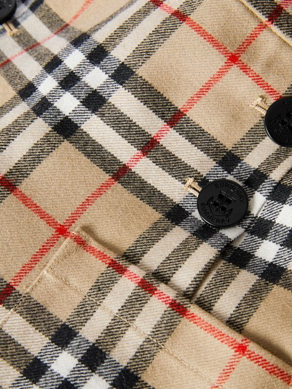 Vintage Check Wool Sailor Trousers in Archive Beige | Burberry - cell image 1