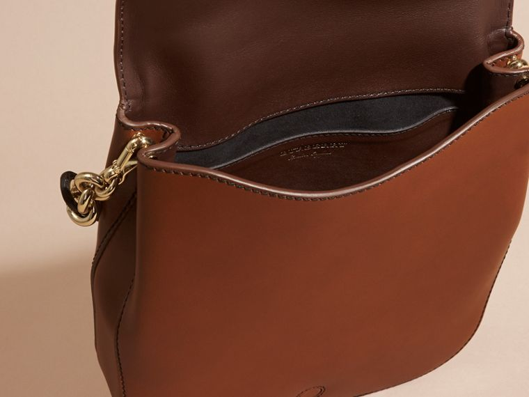 Tan The Buckle Satchel in Smooth Leather - cell image 4