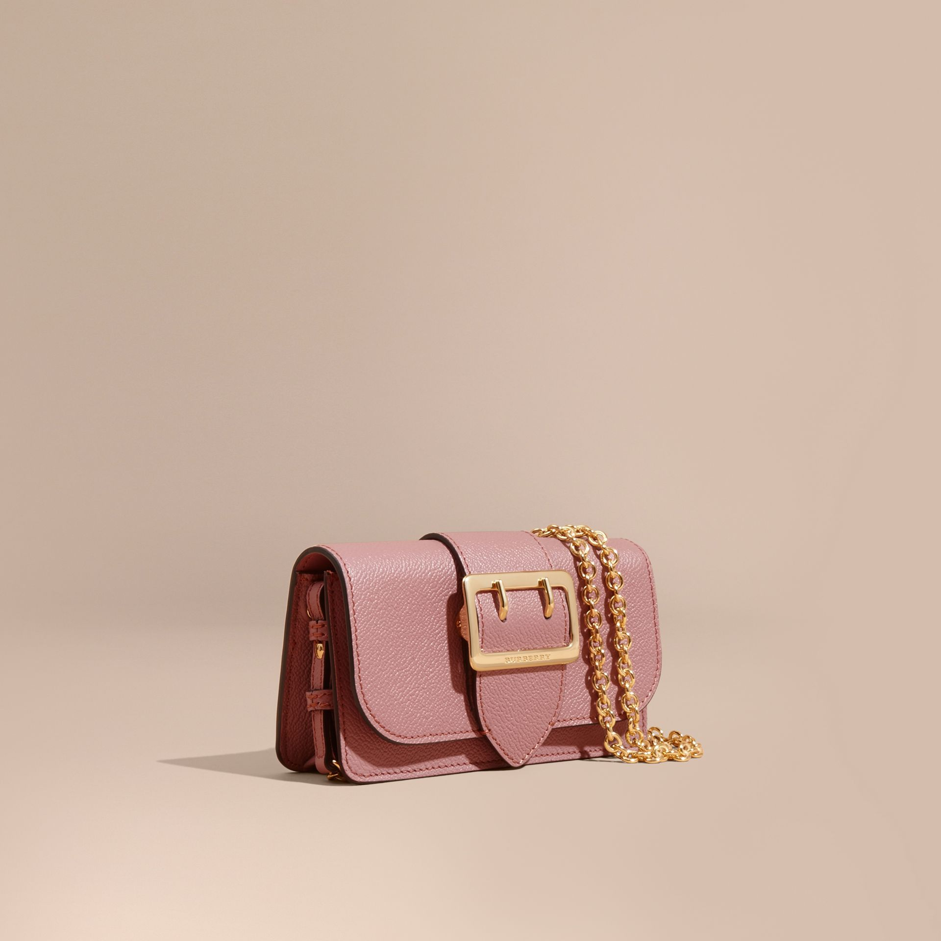Dusty pink The Mini Buckle Bag in Grainy Leather Dusty Pink - gallery image 1
