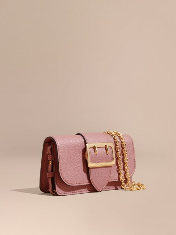 The Mini Buckle Bag in Grainy Leather Dusty Pink