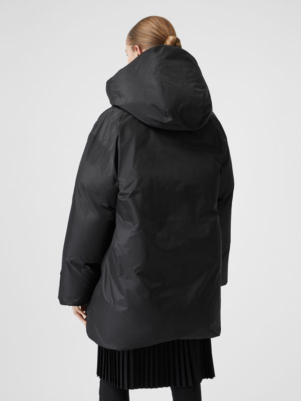 Detachable Hood Down-filled Oversized Wrap Coat in Black - Women | Burberry - cell image 2