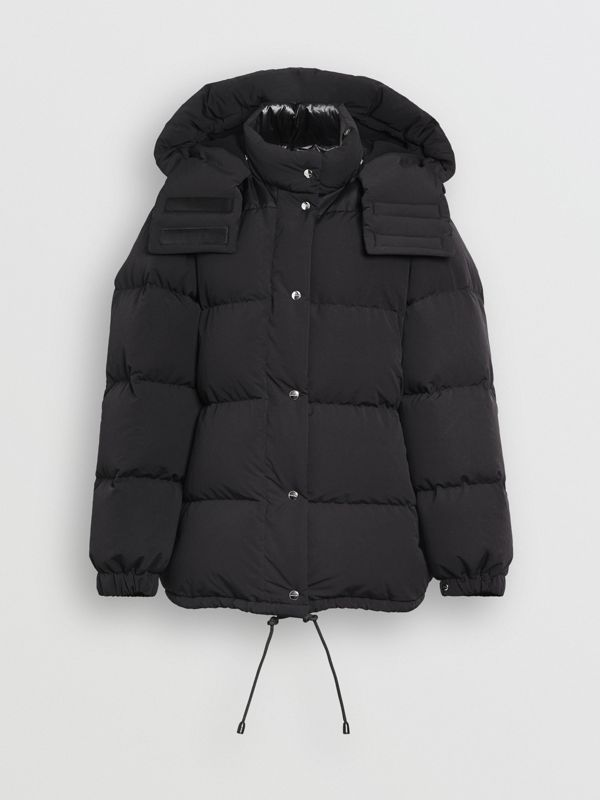 Detachable Hood and Sleeve Down-filled Puffer Jacket in Black - Women | Burberry United States - cell image 3