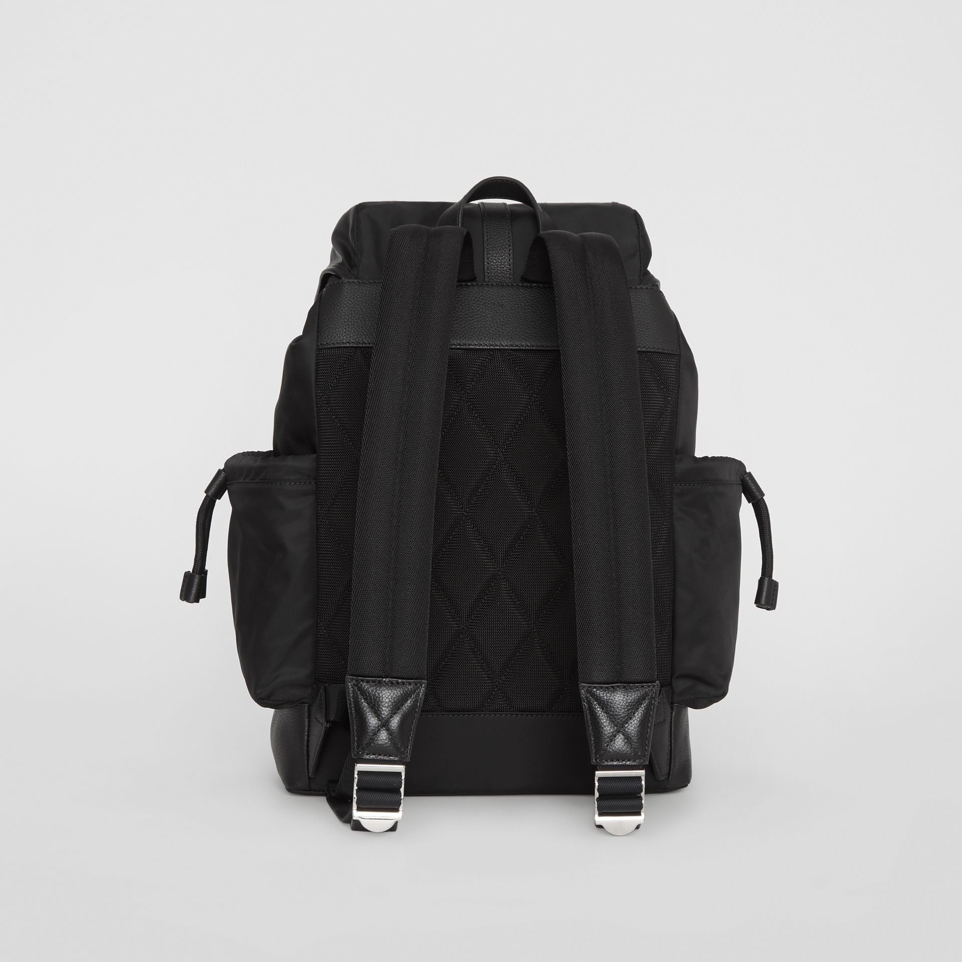 Leather Trim Baby Changing Rucksack in Black - Children | Burberry - gallery image 5