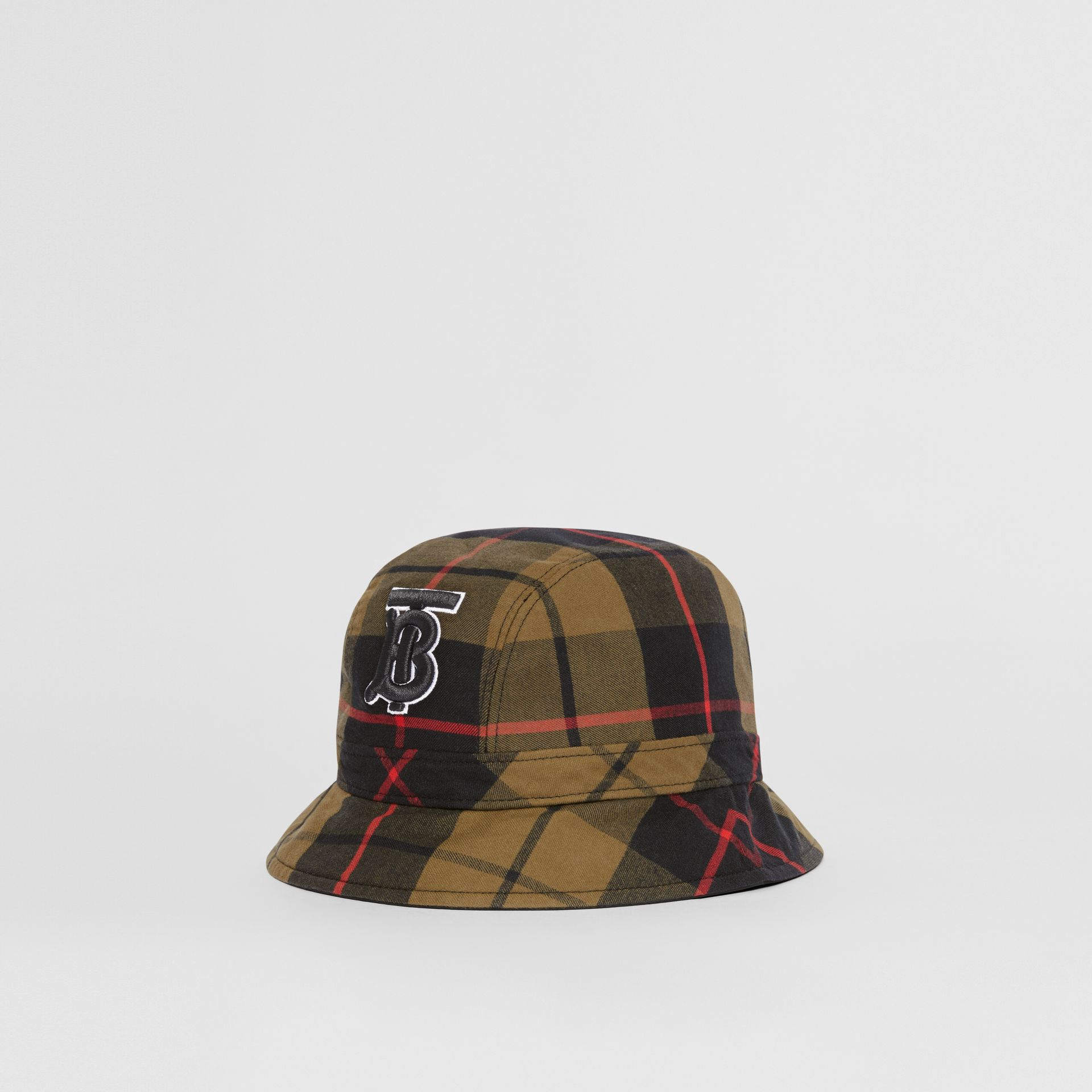 Reversible Monogram Motif Bucket Hat in Military Olive | Burberry Singapore - gallery image 0